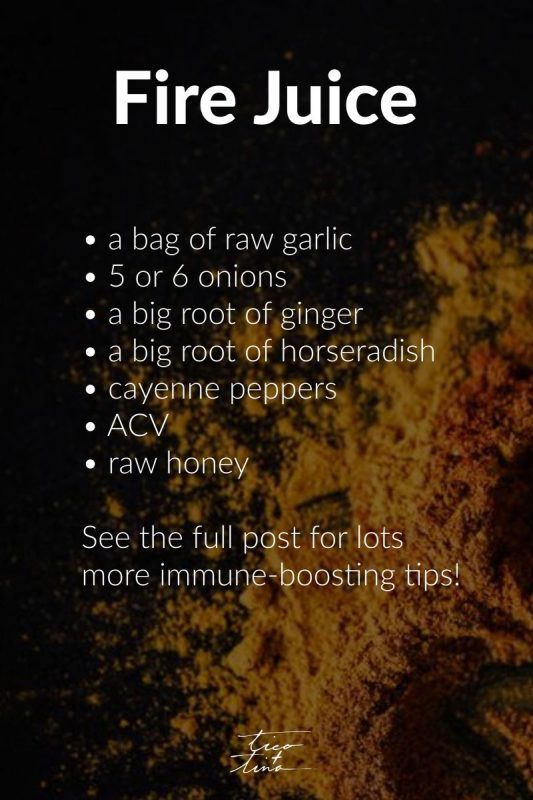 fire juice, fire cider recipe - boosting your immune system